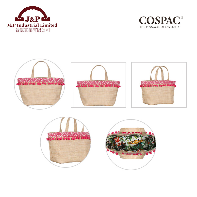 Alibaba Online Shop Guangzhou factory PP Straw Material Ladies Handbag Importers