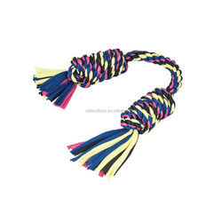 "Blueberry Pet 9"" Double Monkey Fist Bars Multicolor Pink Rope,pet toy rope"