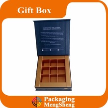 custom design printing luxury cardboard chocolate gift box with dividers