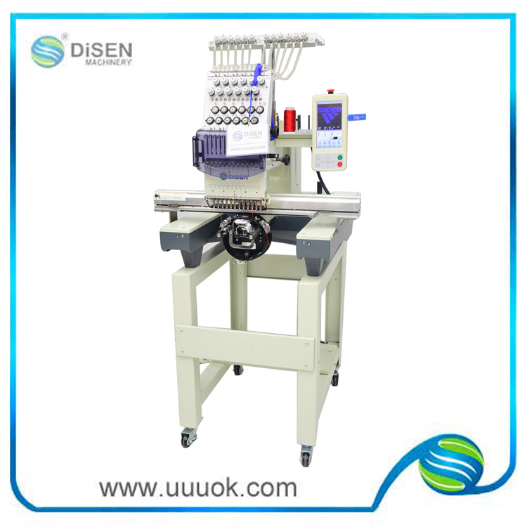 One head embroidery machine with 12 needles