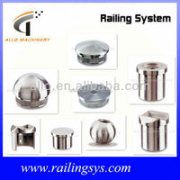 stainless steel caps for handrail fitting inox plastic end cap