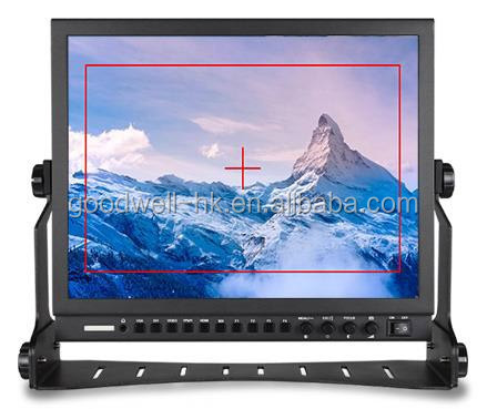 "Hot Sale ! 15"" Stand Alone Aluminum Case Broadcasting HD-SDI Monitor 1024x768 with Camera 5DII Mode"