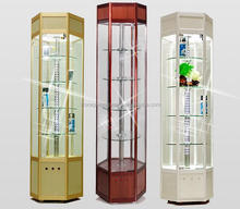 Revolving Freestanding Tower Display Showcases/Aluminum Rotating Showcase/Rotating Glass Showcase