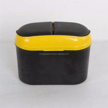 mini car double recycle plastic garbage bin