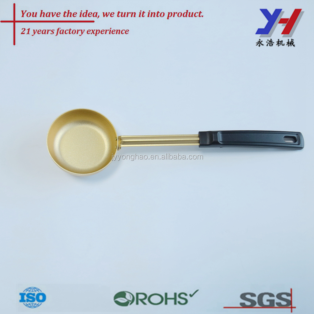 OEM ODM customized long handle food grade metal honey baby spoon