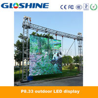 die-cast aluminum P8mm mobile outdoor LED video wall screen