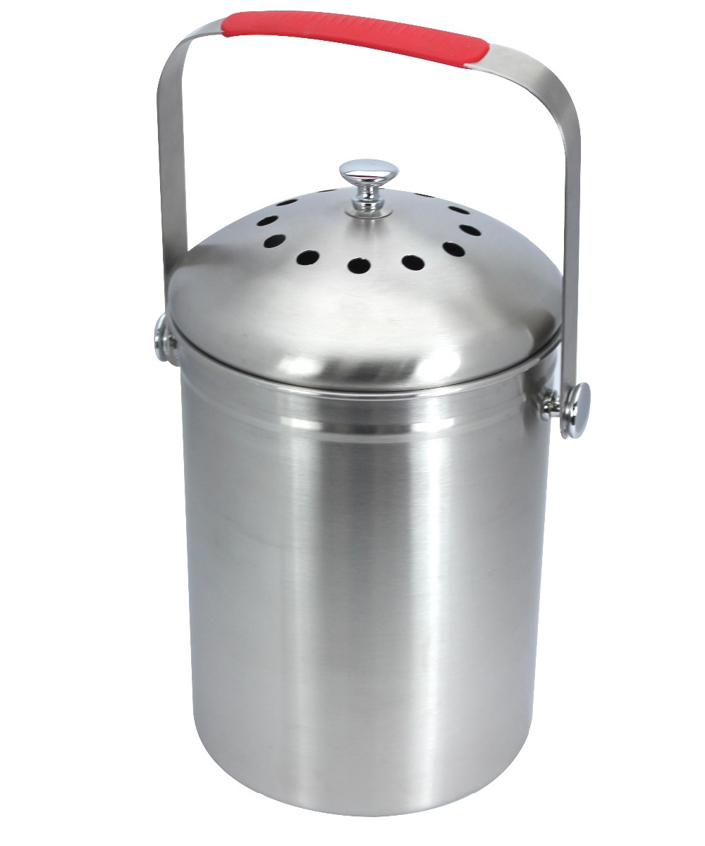 1 0 Gallon Stainless Steel Kitchen Compost Pail With Charcoal Filter Buy Compost Pail Kitchen