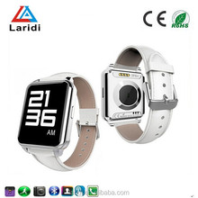 2015 New style and fashion bluetooth smart wrist watch F2 smartwatch with speakers touch screen and pedometer for men with phone