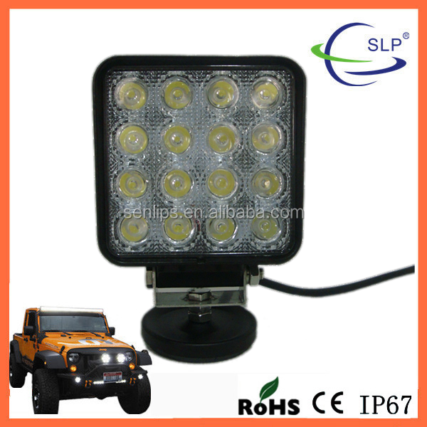 48W Square Epistar Led Work Light Bar Spot/Flood Beam for Off-road Tractor, Truck AUT