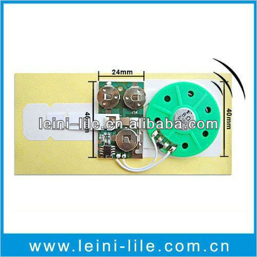 Small sound chip for greeting card