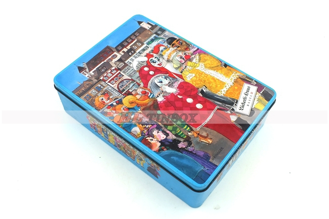 High Quality Rectangle Card Game Metal Tin Box with High End Printing