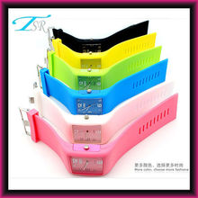 2014 hot sale alloy case free custom logo promotion gift silicone wristband watch waterproof