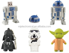 Cute pen drive cartoon 4gb/8gb/16gb/32gb bulk war star usb flash drive flash memory stick pendrive gift