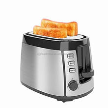 New electric stainless steel bread toaster 2 slice 800W