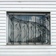 iron window grill color,New design wrought iron balcony window grill for sale