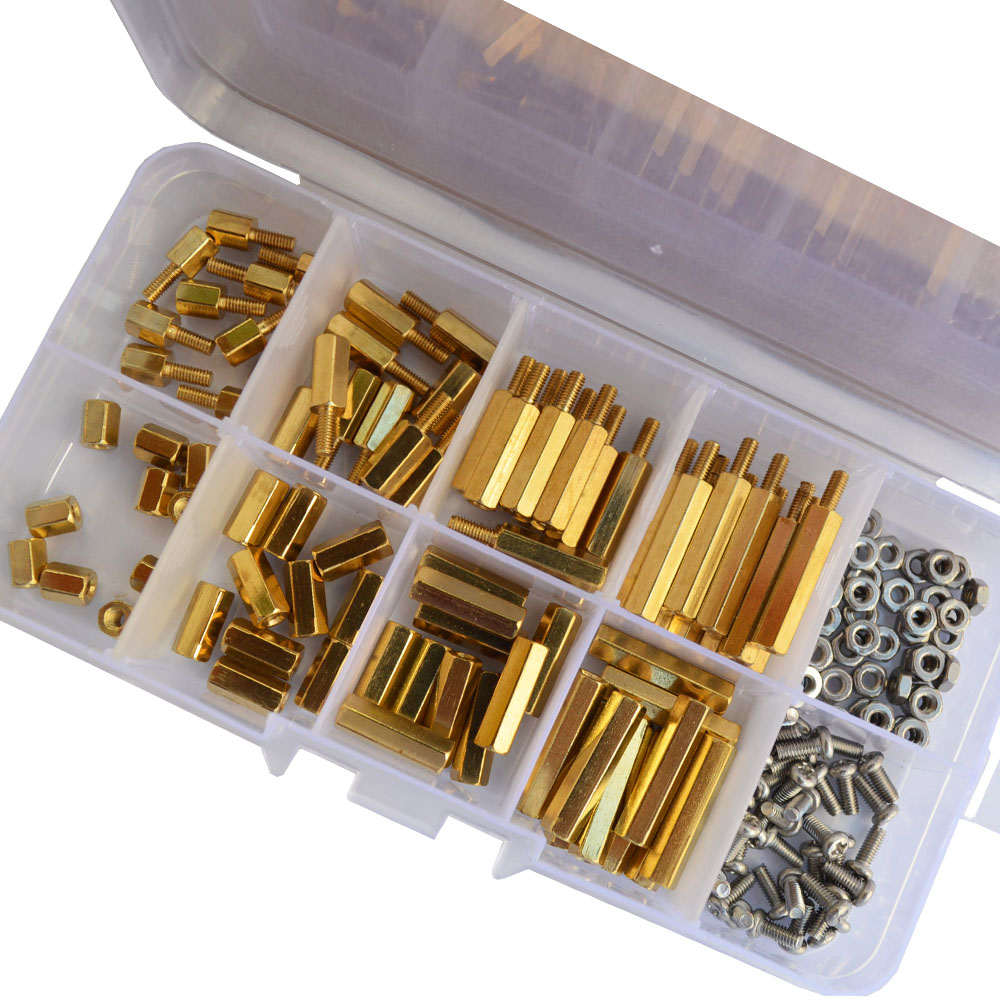 M2 M2.5 M3 M4 Male And Female Hex Brass Standoff Screw Assortment Kit