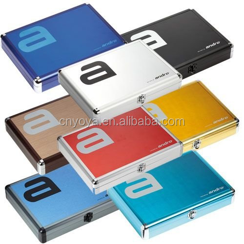 Alu Table Tennis Bat Case,Table Tennis Case Aluminium,Table Tennis Aluminium Case Black/Blue