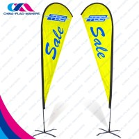 quality 3m feather pop up fly flag beach banner