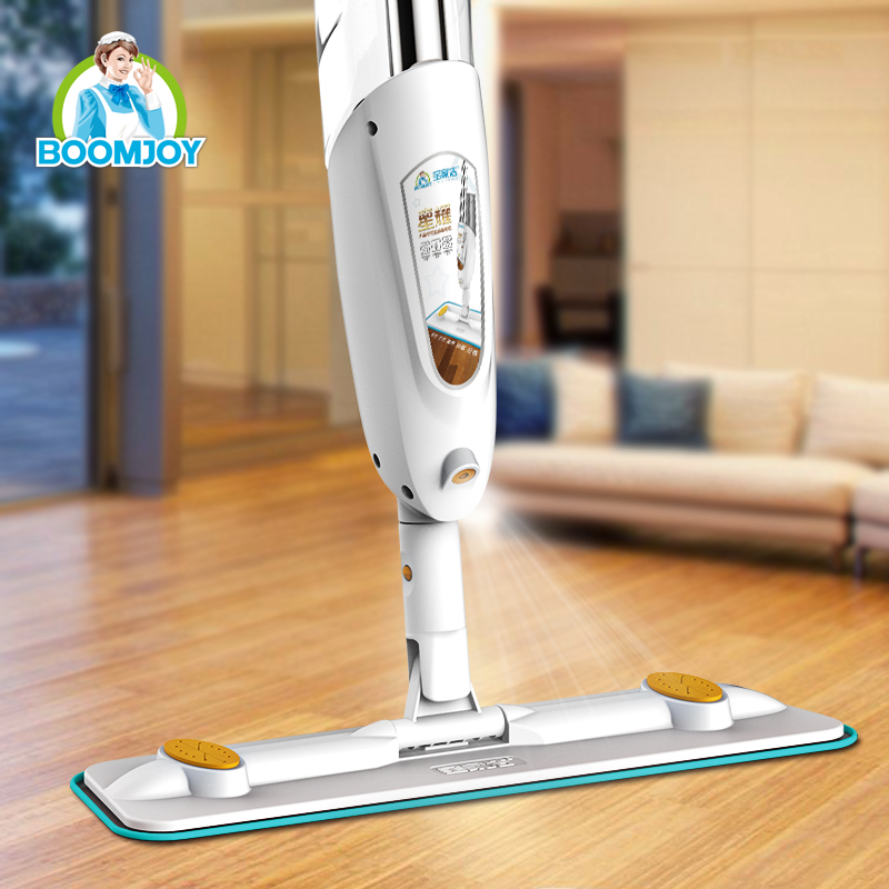 Telescopic aluminum mop handle super microfiber 360 swivel magic spray mop