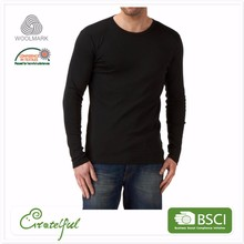 Wholesale custom thermal men merino wool sports long sleeve baselayer shirt