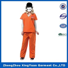 Hot sale bad girl sexy prisoner costume,Womens Adult sexy Jailhouse Honey Jailbird Prisoner Convict Striped Costume