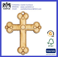 Wood Charm, Church Cross, 31x25mm wooden cross charms,small wood craft