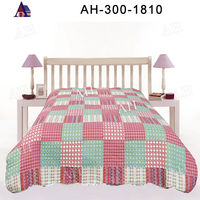 King Size Indian Cotton Hand Block Printed Patchwork Quilt Sale