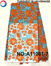 new design 2 colour african guipure dress cord lace fabrics