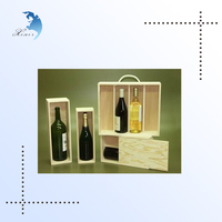High Quality excellent wooden gift boxes for wine glasses bottles