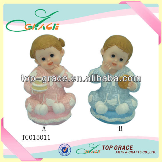 Unique polyresin baby gift craft