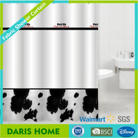 Water Transfer Printing Bath Shower Windows Curtain, Hotel Shower Curtains