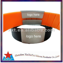 Letters and pictures printing custom glowing silicone hand bands
