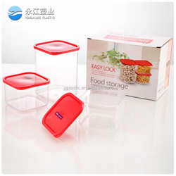 wholesale food storage glass enclosure box food grade plastic container with lock