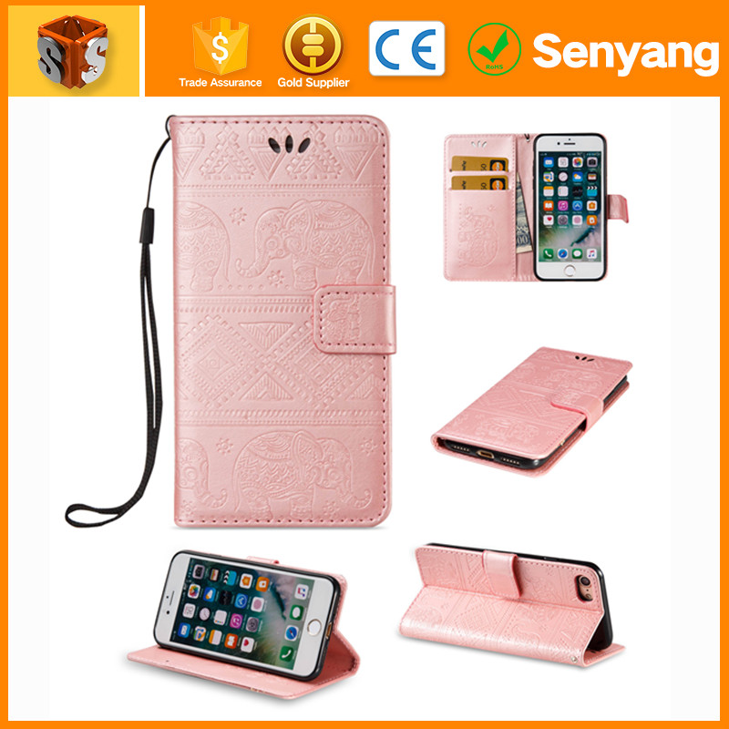 korean fashion wholesale Dual Window View Flip Wallet Leather Case Cover leather case for iphone 6s plus