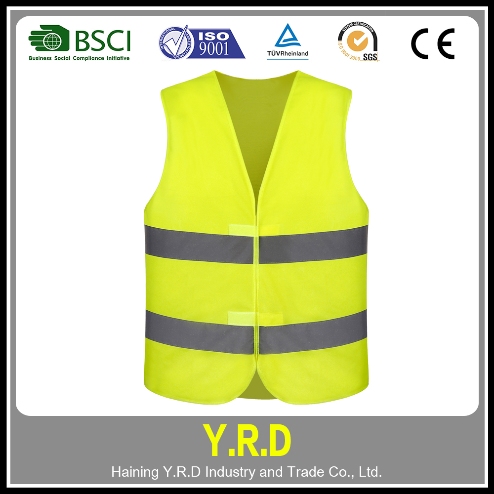 Cheap custom black reflective vest , safety vest