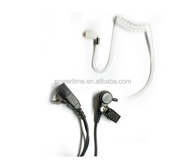 two way radio acoustic earphone Kits with PTT button good price