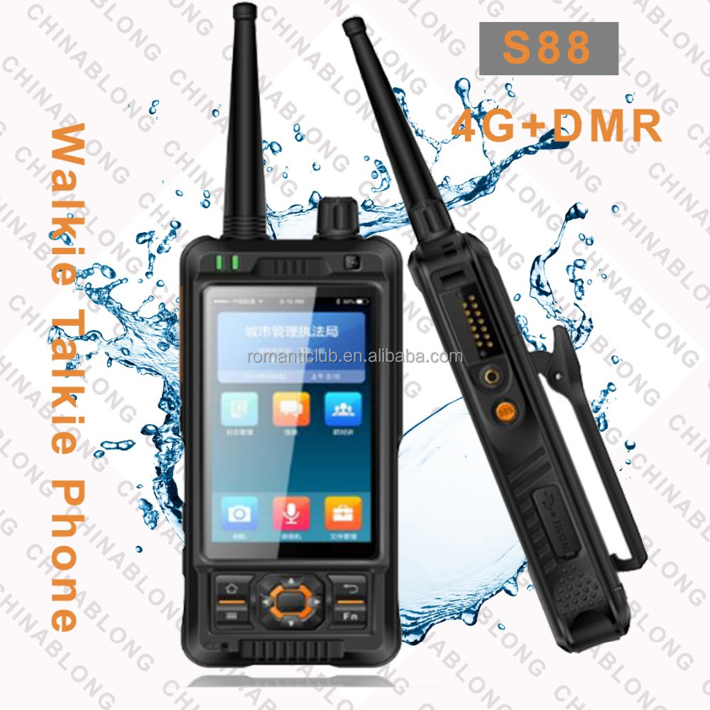 POC digital analog tri-mode transceiver with IP54 waterproof smart terminal S88 radio