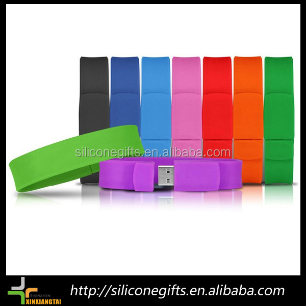 oem private label silicone bracelet usb flash drive for kids