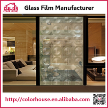 Guangzhou circle mirror patterned 3d transparent smart window film