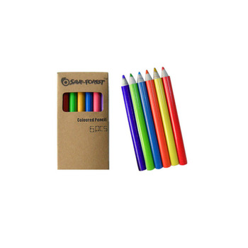 6 Color Fanciful Paper Pencil Set