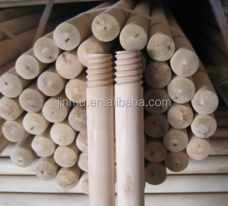 sanding Italian thread wooden handle for mops or brooms