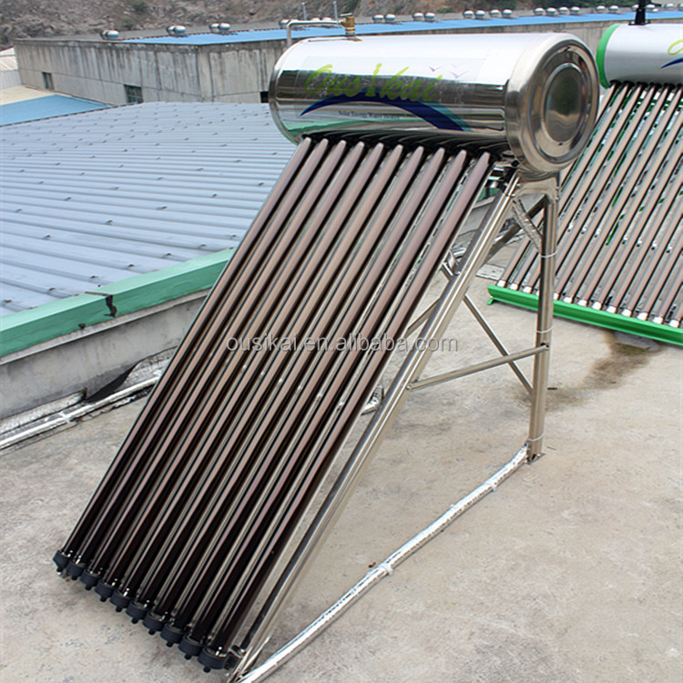 Stainless steel or galvenized steel compact pressure solar water heater