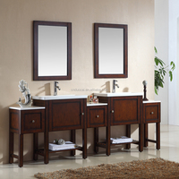 Hot Selling Wholesale Double Sink Mirrored Bathroom Vanity Furniture (AM-L9803)