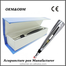 Electronic massage pen handed acupuncture needle low level laser therapy