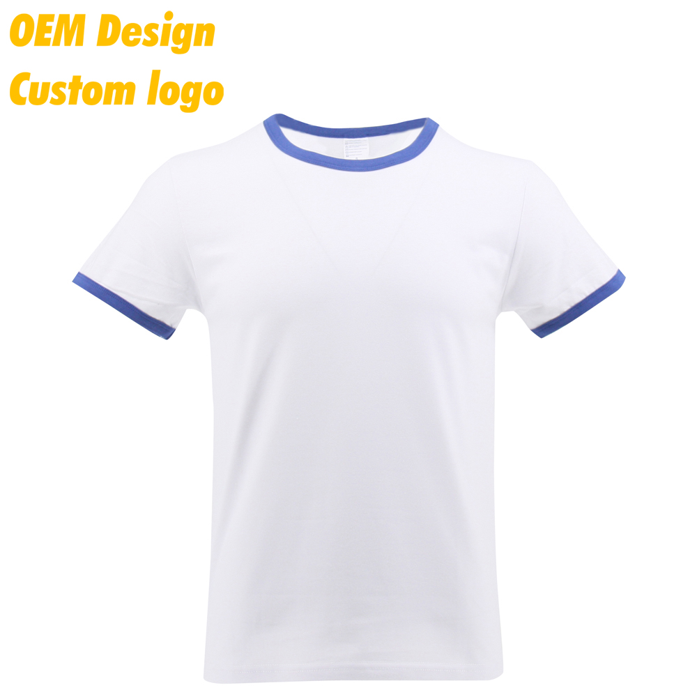 Custom Promotional Design Collar Neck 100% Cotton Short Sleeves kids Tee