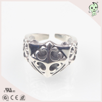 Antique wholesale 925 sterling silver open adjustable men ring