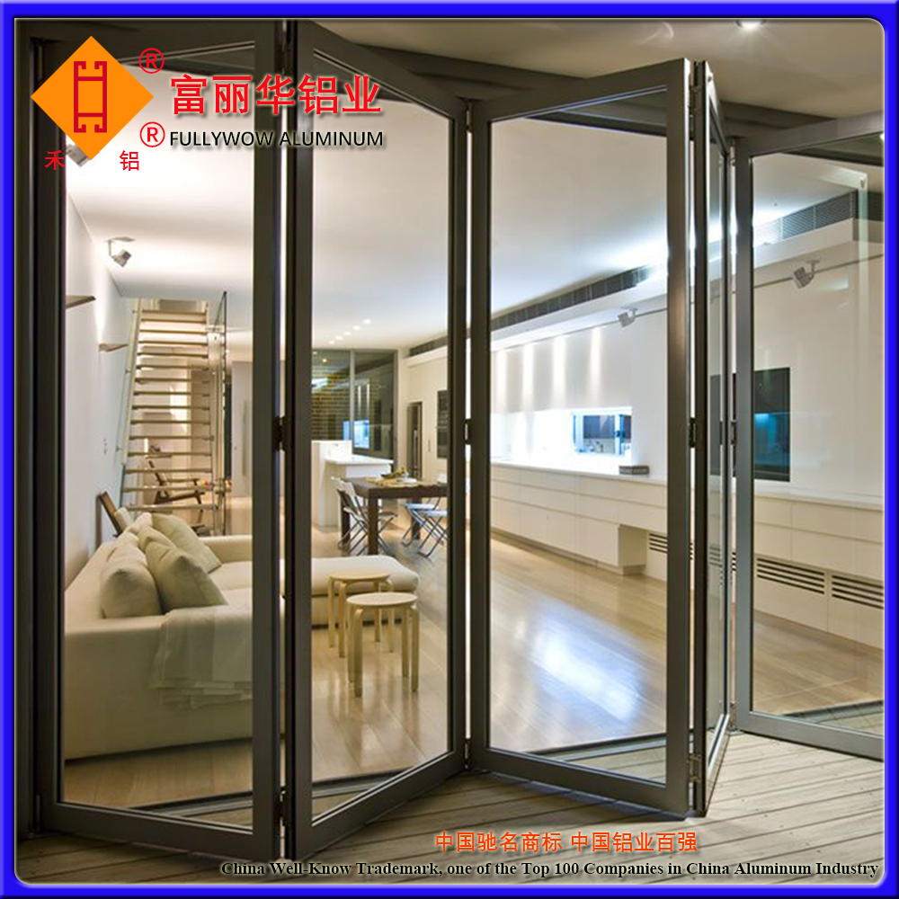 Thermal Break Aluminum Front Door for Hotel and Office Building Decoration
