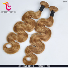 100 brazilian remy virgin human hair weft ombre color body wave two tone color