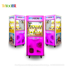 Factory price PP tiger Mini Crane Game Candy Sweet Honey Plush Vending Sale Toy Claw Crane Machine