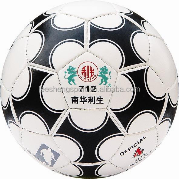 Rubber bladder PU leather soccer ball